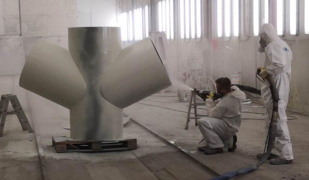 Reactor 2K Spritzgerät Heissspritzgerät 2 Komponeten Anlage Beschichtung beschichten schützen strahlen Sandstrahlen Offshore Konstruktionen Ecoqip Graco